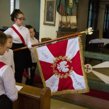 The school patron and blessing of the school's banner