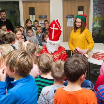 Santa's visit at Polish School in Sheffield