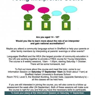 Kurs młodych tłumaczy – Young Interpreters Course